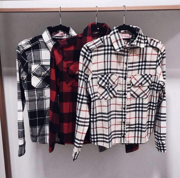 Camisa Xadrez Flanela Cinza