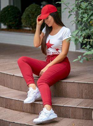 Jogger Jeans Vermelha