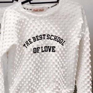 Moletom College Style Branco
