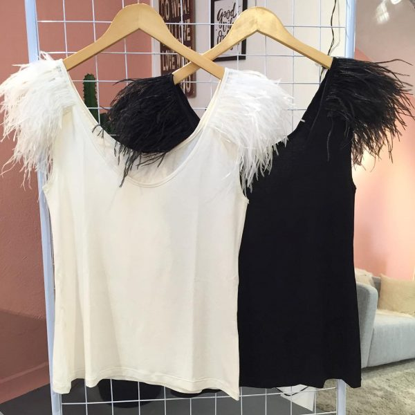 T-shirt de Plumas Off White