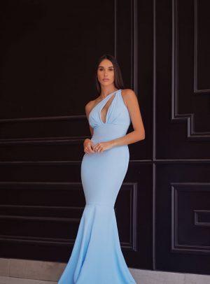 Vestido Grazi Azul Bebê