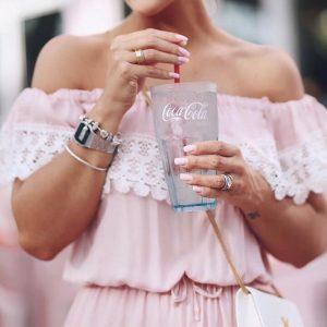 Vestido Ciganinha Rosé Com Renda Guipir