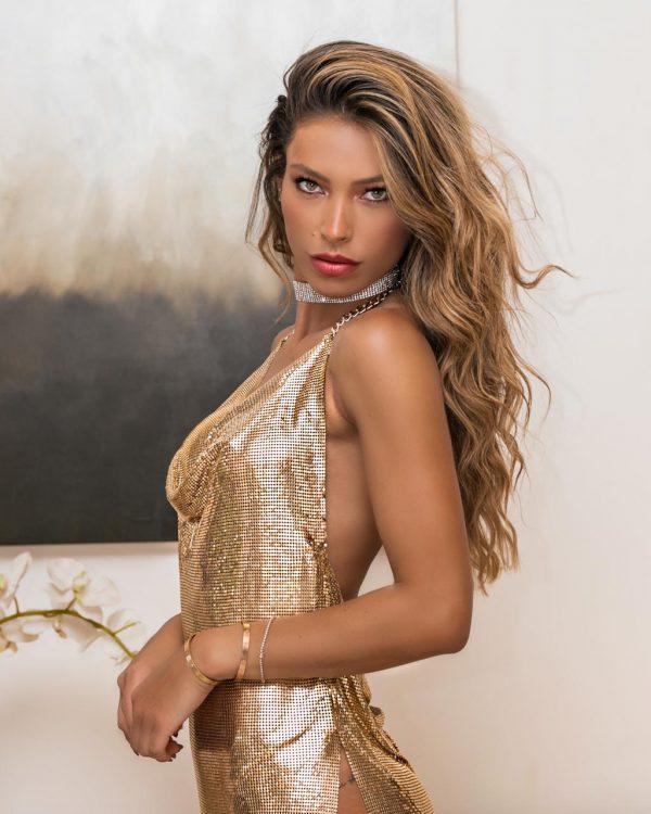 Vestido Kendall Dourado