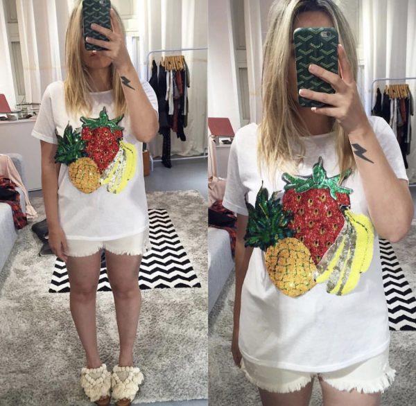 T-shirt Frutas Branca
