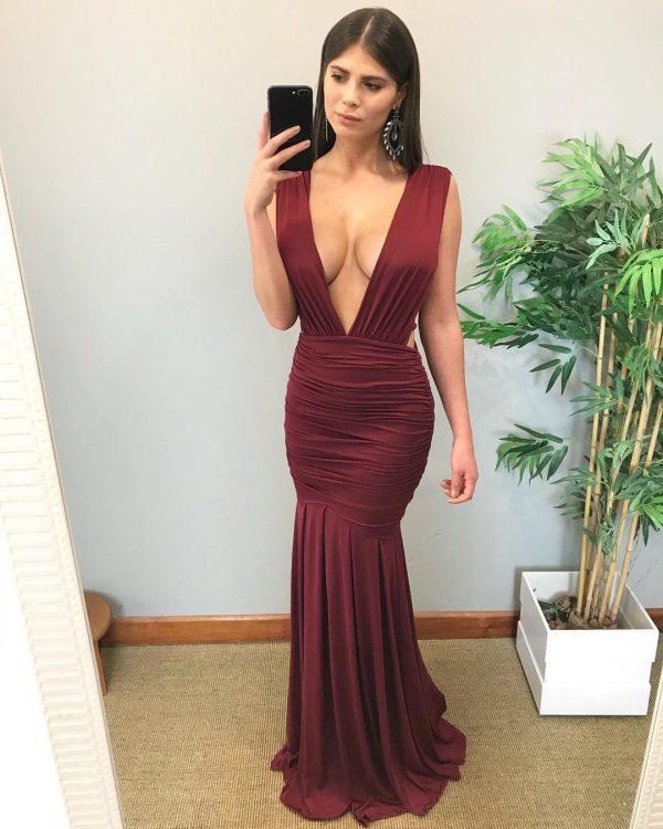 Vestido Sofia Marsala