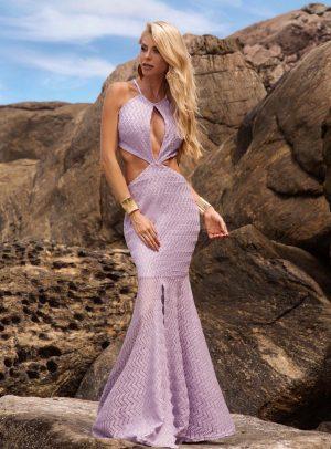 Vestido Marguerita Lavanda