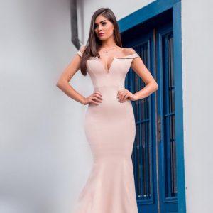 Vestido Catarina Rosé