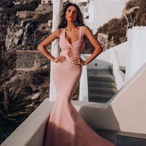 Vestido Isabel Rosa Antigo