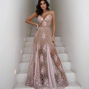 Vestido Duchesse Rosé