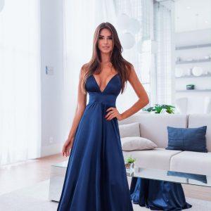 Vestido Ashley Azul Marinho