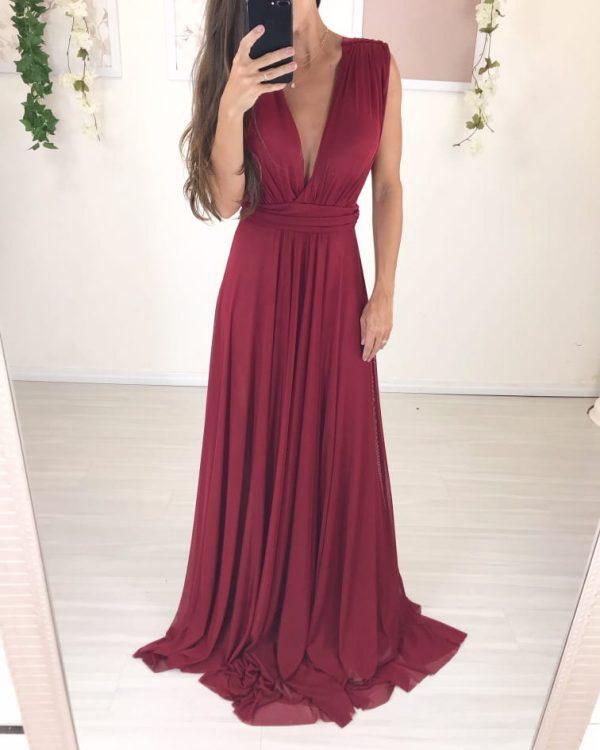 Vestido Grace Marsala