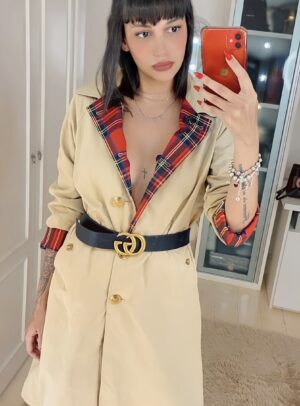 Trend Coat Burberry Inspired Dupla Face