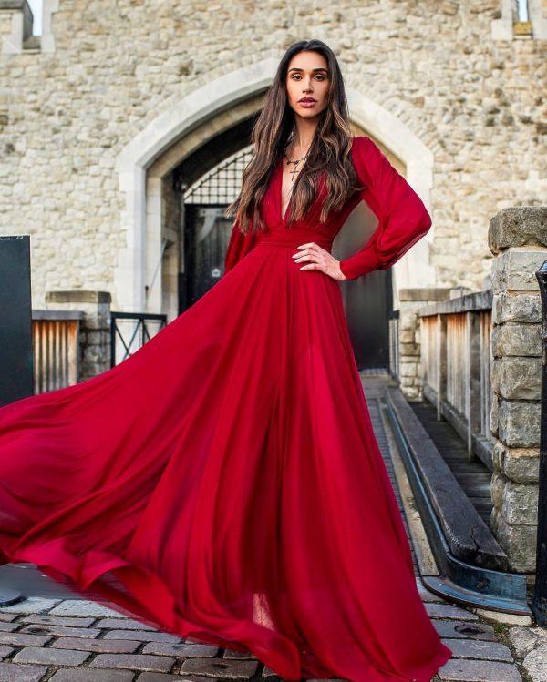 Vestido Stephanie Marsala