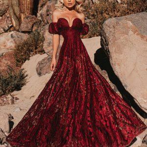 Vestido Megan Marsala