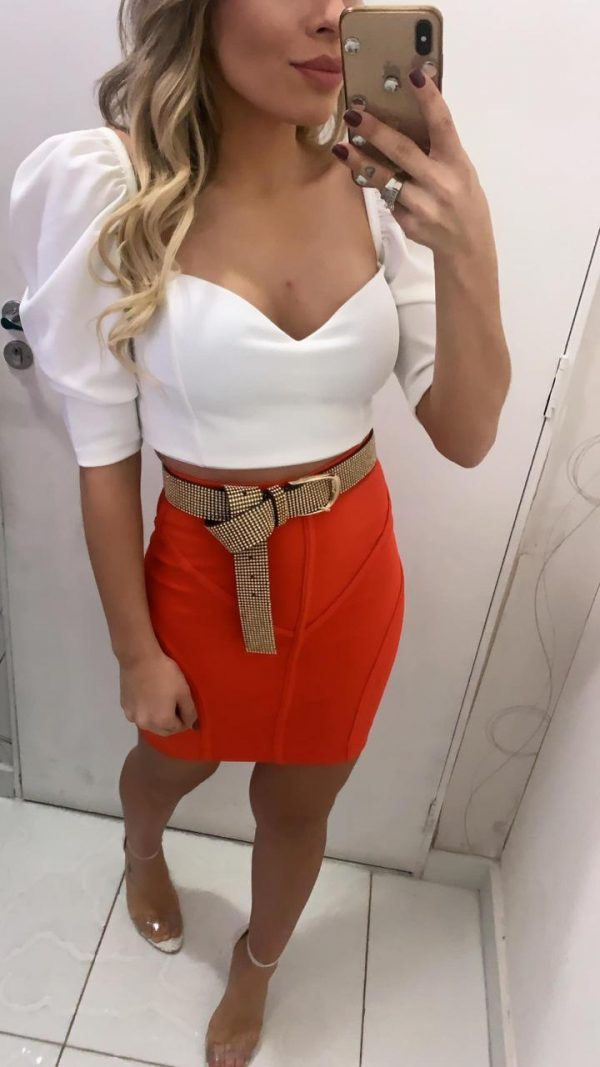 Cropped Princess Off White