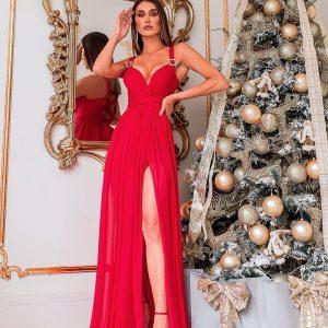 Vestido Serena Mil Formas Vermelho