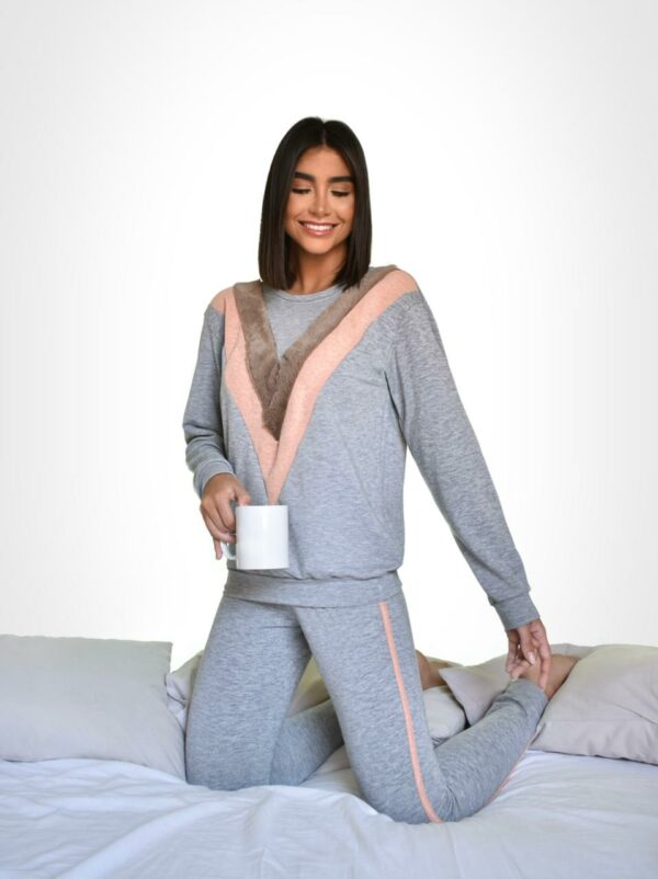 Pijama Lolah Good Vibes Tricolor Preto