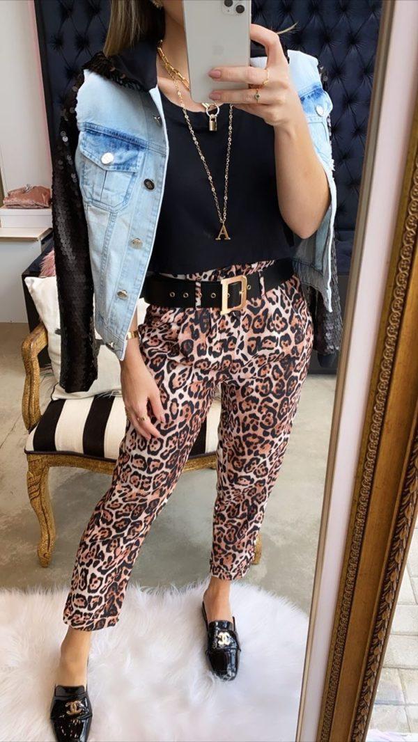 Jaqueta Jeans Com Mangas E Capuz Em Paetês Preto