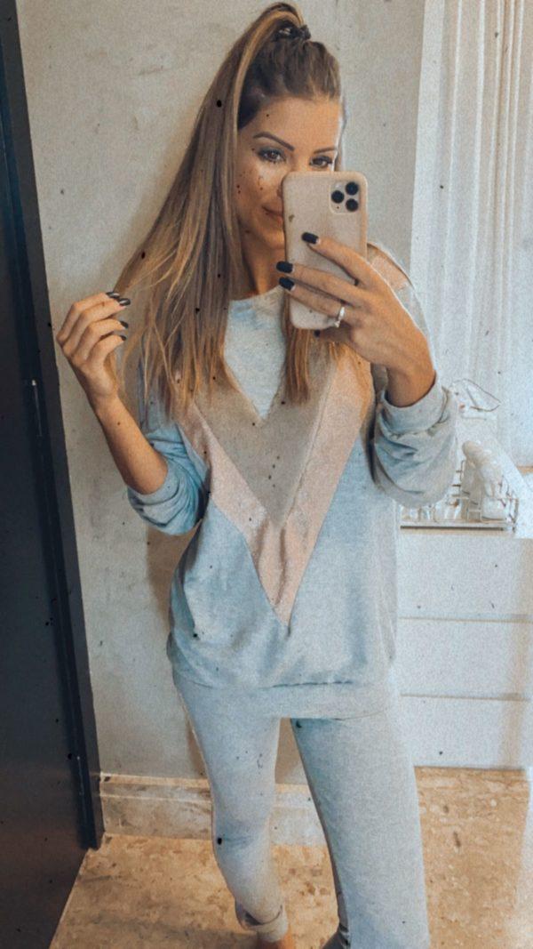 Pijama Lolah Good Vibes Tricolor Cinza