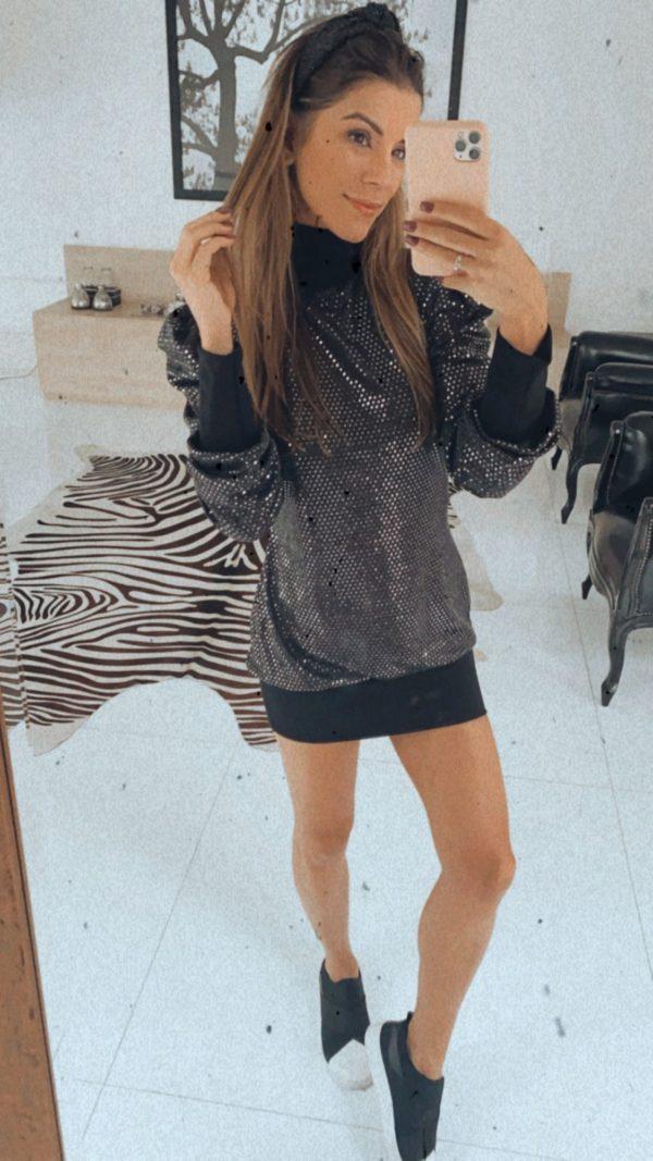 Vestido Malha Paetê