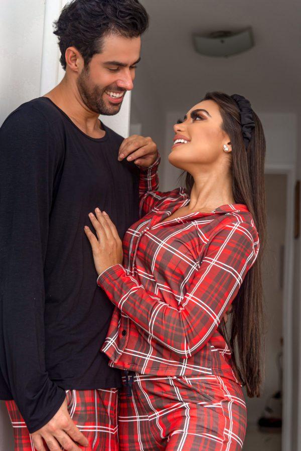 Pijama Estampa Xadrez Masculino