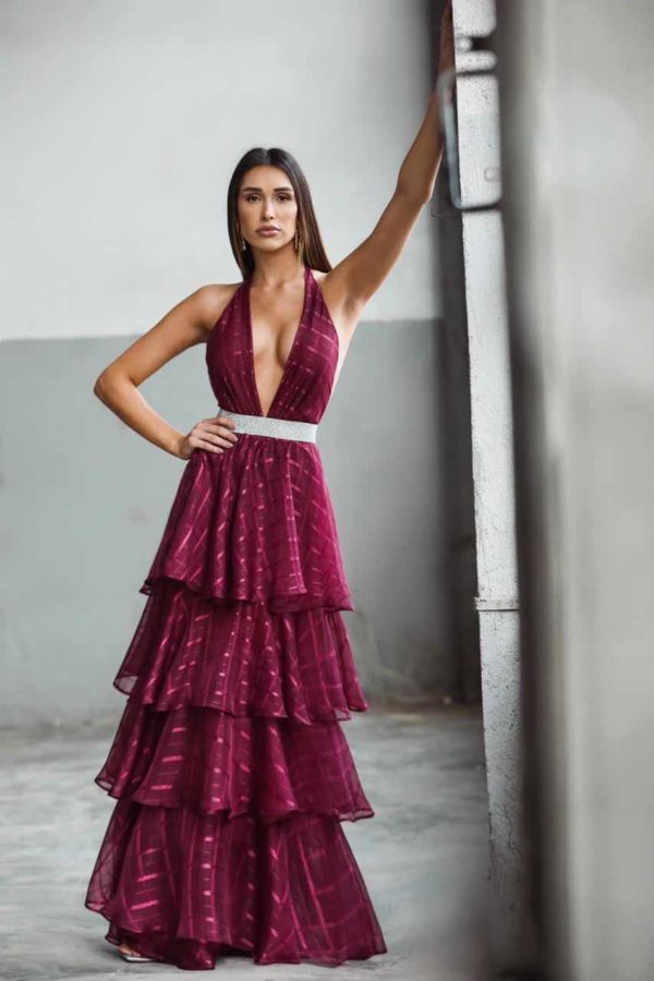 Vestido Dária Marsala