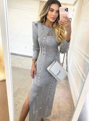 Vestido Olívia Prata