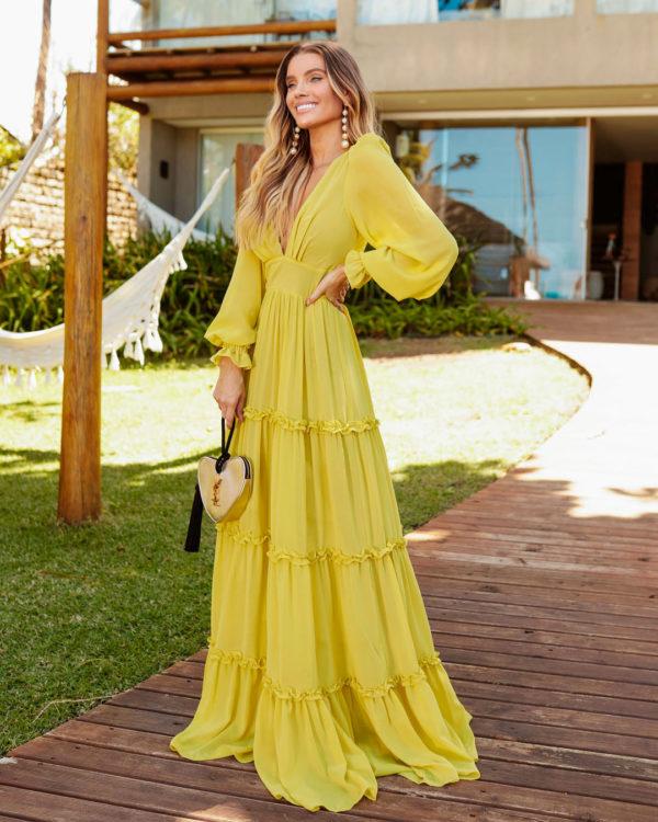 Vestido Valentino Vogue Longo Citrus