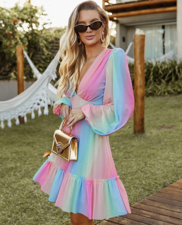Vestido Tule Rainbow