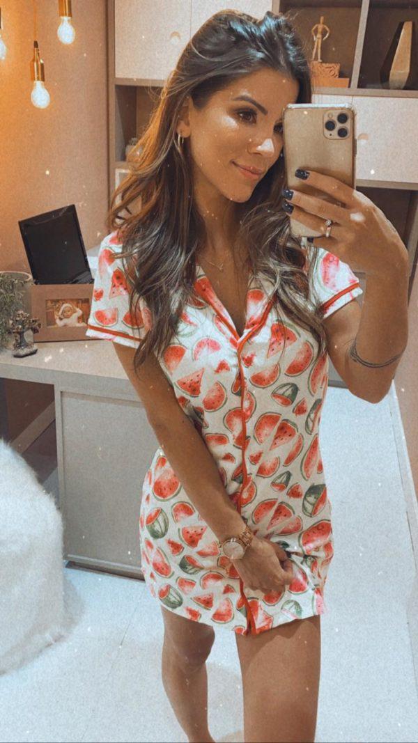Pijama Camisola Melancia