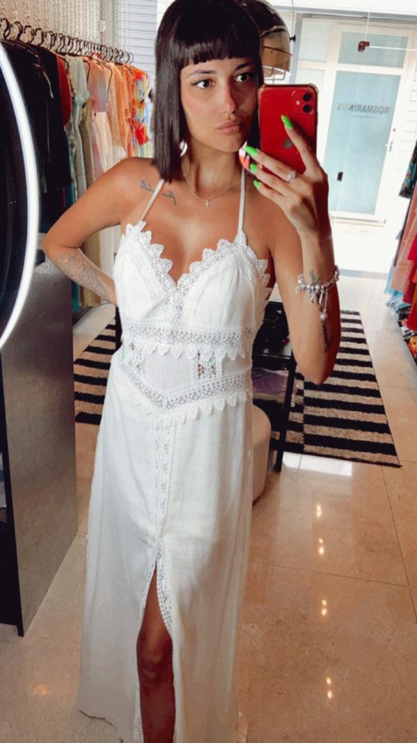 Vestido Longo Paola Off White