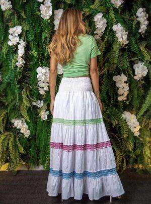 T-shirt Decote V Verde Abacate
