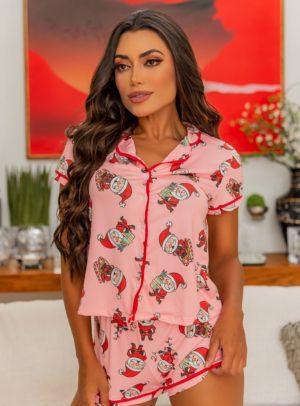 Pijama Santa Versão Short
